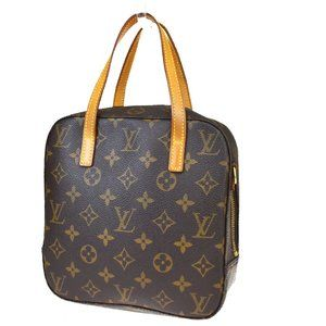 LOUIS VUITTON Spontini Hand Bag Monogram Leather B